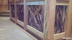 Mountain Laurel Stair Railing Check out rustic wood railing http://awoodrailing.com