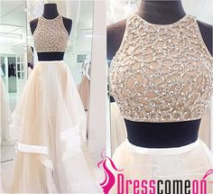 Custom Made Sexy 2 Piece Style Prom Dress, A-Line Prom Dress,High Neck Prom Dress,Tulle Prom Dress , Cheap Prom Dresses 2016 Prom Dress - Thumbnail 2 Prom Dresses Two Piece, Prom Dresses 2016, Cheap Prom Dresses, Sexy Dresses, Evening Dresses, Prom Gowns, Bridesmaid Dresses, Fitted Dresses, Backless Dresses