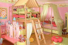 Toddler girl bedroom design - Girls' Bedroom Ideas - Zimbio Lounge Decor, Design Bedroom, Girls Room Design, Playroom Design, Playroom Decor, Girl Bedroom Designs, Play Rooms, Kids Rooms, Budget Bedroom