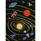 Lil Mo Whimsy Solar Black 8 ft. x 10 ft. Indoor Kids Area Rug