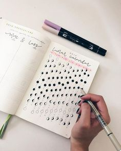 Another gorgeous lunar calendar #bulletjournal #bujo #tracker