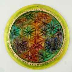 Na skle malovane - kvet zivota Flower Of Life, Glass Art, Plates, Tableware, Flowers, Licence Plates, Dishes, Dinnerware, Griddles