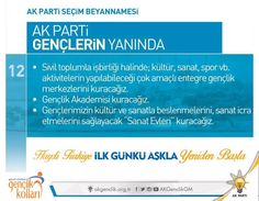 Gençlik Akademisi ve Sanat Evleri, gençlerin kültür ve sanat etkinlikleri ile iç içe olmasını sağlayacak #AKBeyanname #akgençlikrize #akgençlik #akparti