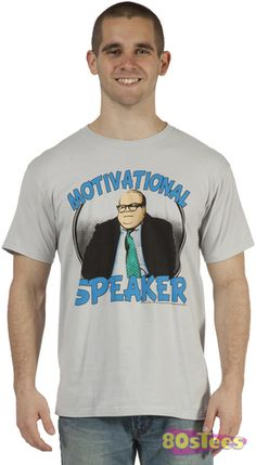 606651178fd61 This Motivational Speaker Matt Foley Shirt features an image of Chris  Farley as the down on his luck SNL character who lives in a van down by the  river.