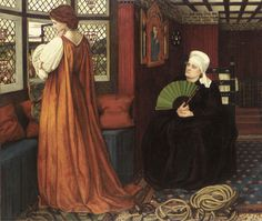 "John Roddam Spencer Stanhope, ""Juliet and the Nurse"""