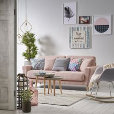 Furnishing the Living Room with a Pink Sofa — Hygge Design