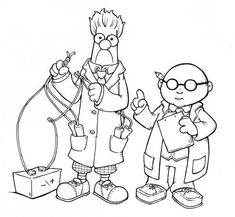 The Muppets Dr Bunson Honeydwe And Beaker Make Some Experiments Coloring Pages : Bulk Color Beaker Muppets, Muppet Babies, Baby Images, Online Coloring, Teaching Tools, Coloring Pages For Kids, Kids Learning, Style Inspiration, Silhouettes