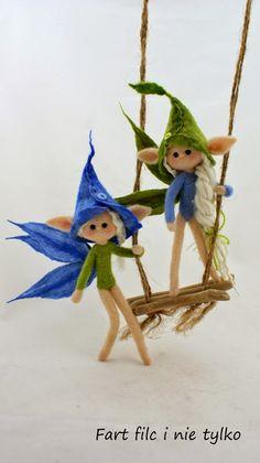 Elfy :) #dolls #filc #polandhandmade #felt #ooak #teddybear #fartfilcinietylko #fartownemisie #toy