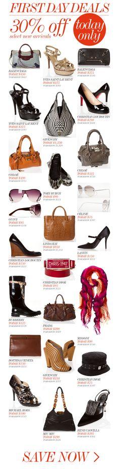 FIRST DAY DEALS // Missoni, Givenchy, Burberry, YSL, Balenciaga, Bottega Vaneta & more!