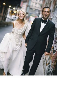 Zanna Roberts Rassi, senior fashion editor Marie Claire US and fashion correspondent, wore Marchesa. - HarpersBAZAAR.com