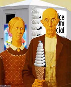 American Gothic with an Ice Cream