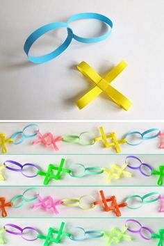 idées de bricolage pour Noël: guirlande en papier