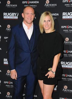 Mike Tindall and Zara Phillips attend an evening reception for the ISPS Handa Mike Tindall 3rd Annual Celebrity Golf Classic at the Grove Hotel on May 8, 2015 in Hertford, England.