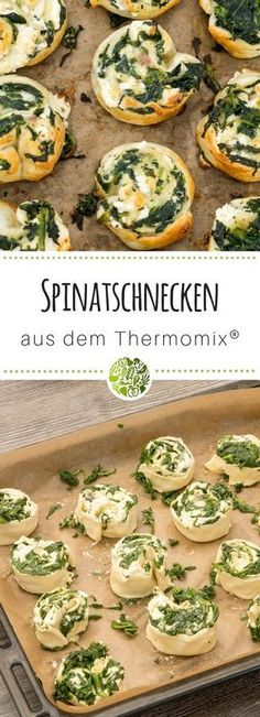 Spring recipes from the Thermomix- Frühlingsrezepte aus dem Thermomix Discover our delicious spinach slices and many other recipes from the - Spinach Puff Pastry, Extra Recipe, Spring Recipes, Other Recipes, Baby Food Recipes, Finger Foods, Food Inspiration, Tapas, The Best