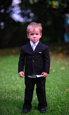 Super cute ring bearer suit but tie and ascot will be orange to match my pink and orange theme