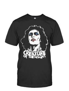 "Limited Edition ""Creature of the Night"" Tees, and Hoodies!   Dr. Frank-N-Furter T-Shirt from The Rocky Horror Picture Show."