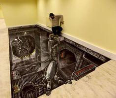 3D Sidewalk Art | More 3D Sidewalk Chalk Art - SAS Advertising | Creative Art , Design ...