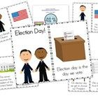 The emergent reader introduces both candidates and gives a simple explanation of voting!