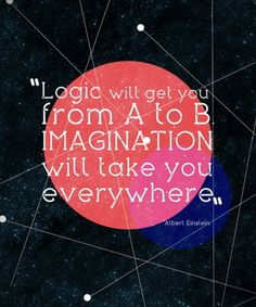 I'll take the #imagination route. How about you?   #logic