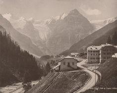 Italy Alpes Mountain Trafoi Hotel Post Old Photo 1890