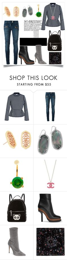 """Think fashion"" by jennifer-lawrence-143 ❤ liked on Polyvore featuring Sonia Rykiel, Balmain, Kendra Scott, Delfina Delettrez, Les Petits Joueurs, Marni, Schutz and Alexander McQueen"