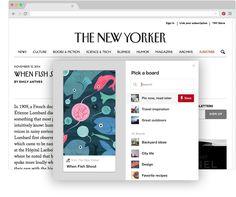 Stránka s potvrzením pro tlačítko do prohlížeče | Co je Pinterest