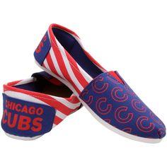 Chicago Cubs Women's Canvas Stripe Shoes