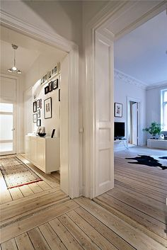weathered wood. high-gloss paint. flooring - paint - interiors -design - decor. Love these floors remind me of home