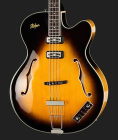 Semi-Hollow Electric Bass  Top: Spruce, Bottom and sides: Flamed maple…