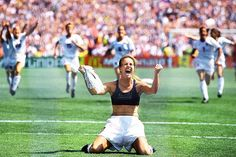 Brandi Chastain Women's World Cup, July 10, 1999 U.S.A. defeats China with this PK