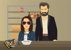 Logan and Laura vector illustration Marvel film Wolverine graphicdesign