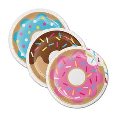Yummy Donut Dessert Paper Plates. Matching items sold separately. These are a perfect addition to any dessert table. Great for Kids Parties and even adults that just want to have fun. •• Each Piece is approx. 7 Inches. (8 pcs. per unit) Assortment may vary. •• Please message me if you need these by a certain date. •• Matching Napkins and Cups found here: http://etsy.me/2i6cx65 •• Shipping overages will be refunded minus $2 for handling. ♥♥♥ MAKE SURE TO CHECK OUT MORE PARTY DÉC...