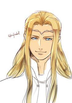 Glorfindel with glowing blue eyes. ;-D