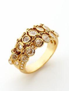 H2 at Hammerman Gold & Diamond Dangle Ring