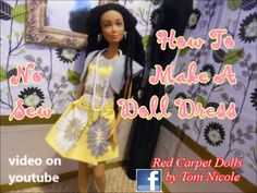 How To Make A Doll Dress No Sew - YouTube