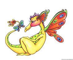 Cheerful - Dragon 10 by Jennifer Nilsson Art Print Great Art Now http://www.amazon.com/dp/B00P062QCE/ref=cm_sw_r_pi_dp_HYgQub1V5Y16B