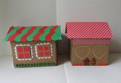 DIY Xmas: la maison de Noël. Carton & gommettes pour 1 gingerbread house...