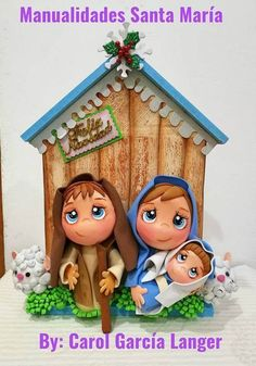 Nacimiento para Navidad en Goma eva Christmas And New Year, Merry Christmas, Xmas, Christmas Decorations, Christmas Ornaments, Holiday Decor, Biscuit, Arts And Crafts, Paper Crafts