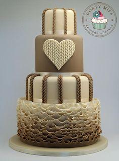 Knitted Wedding Cake - Cake by Michaela Fajmanova | CakesDecor.com