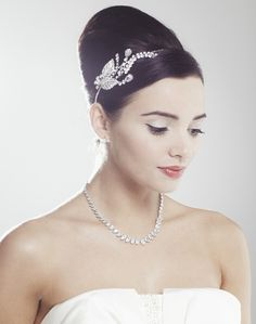 Bluebell Wedding Side Tiara by Ivory & Co