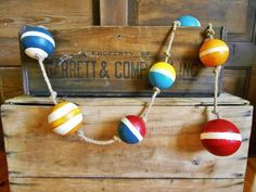 Nautical Styrofoam Buoys on Rope Striped. by by searchnrescue2, $42.00