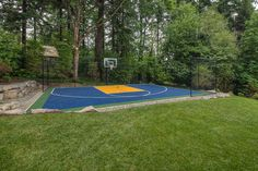 Backyard Sport Court Ideas pop tennis court Traditional Home Sport Court Backyard Basketball Court Design Pictures Remodel Decor And Ideas