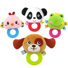 Toys & Hobbies Baby Hand Rattles Toy Cute Cartoon Bell Rattle Plush Doll Soft Animals Bb Bar Sound Educational Toys For Baby 0-12 Months Gifts In Short Supply Baby & Toddler Toys
