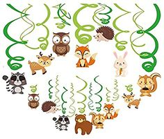 Kristin Paradise Woodland Animals Hanging Swirl Decorations Forest Friends Birthday Party Supplies for Boy/Girl/Kids Baby Shower Woodland Creatures Theme Decor First Bday Favours Toy Instruments Games Toy Instruments Toys First Birthday Themes, First Birthday Decorations, Boy Birthday Parties, Friend Birthday, Birthday Ideas, Woodland Decor, Woodland Baby, Woodland Creatures, Woodland Animals