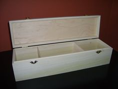 Unfinished Wood Box with Hinges & Latches-16 3/4x4 1/2 x4 1/4-Poplar Box for MTG Cards on Etsy, $29.95