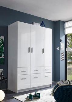 Drehtürenschrank mit 6 Schubladen Tall Cabinet Storage, Locker Storage, Lockers, Furniture, Home Decor, Engineered Wood, Closet Storage, Drawers, House