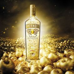 Diageo is to launch Smirnoff Gold Apple following the success of its original cinnamon flavoured release in 2012. #liquor #vodka
