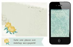 More Antique Paperie Wallpapers for your iPhone, Droid and Desktop!  Free downloads!