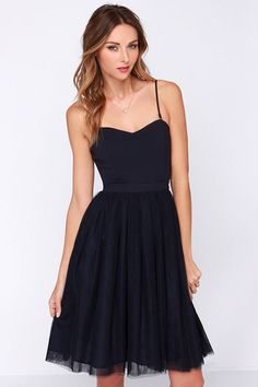 LULUS Exclusive Ballet Liaisons Strapless Navy Blue Dress at Lulus.com!