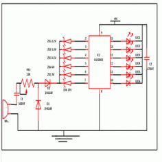 circuit diagram of 8051 microcontroller based water bath temperature  circuit diagram of uln2003 ic based music operated leds